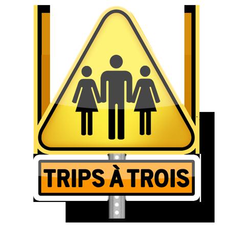 Logo Trips à Trois reseau Pegas Productions porn